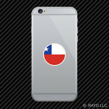 Round Chilean Flag Cell Phone Sticker Mobile Chile CHL CL