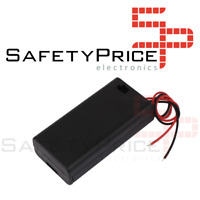 Battery holder portapilas porta pilas 2xAA LR06 INTERRUPTOR Y TAPA P008