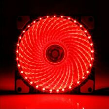 Single 1x 120mm RED LED Cooling Fan 12V 4Pin to 3Pin RGB Computer Case PC CPU