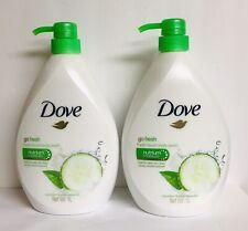 (2) Dove Cucumber & Green Tea Moisturizing Body Wash 1000 ml Each