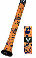 VULCAN ADVANCED POLYMER BAT GRIPS - LIGHT 1.00 MM - ORANGE SPLATTER *NEW DESIGN*