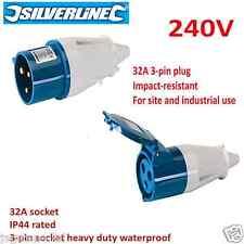 32 amp 3 pin Plug & Socket 220 volt - 240v Waterproof to IP44 32A