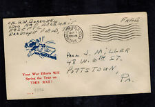 1945 Randolph Field TX AAF USA Patriotic Cover Free Mail Hitler in rat Trap
