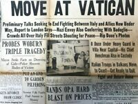The Boston Post Newspaper 1943 World War 2