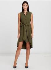 WILLA Gansevoort Button Front Dress Khaki Size 18 BNWT