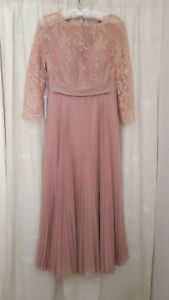 Dusky Pink Mother of the Bride or Bridesmaid JJs House Dress. Size 12. BNWT.