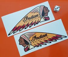 Indian Motorcycle Sticker 150mm Opposite Directions 7 Year Vinyl High Quality
