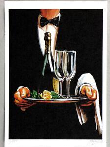 Einmalige Kunst Grafik von Original Gemälde, Grafica, Gráfico, Graphic, NO FOTO!