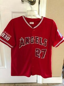 ANAHEIM ANGELS MIKE TROUT JERSEY SHIRT (YOUTH XL)