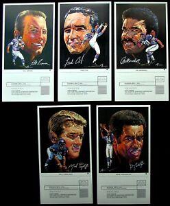1970 MINNESOTA VIKINGS CLARK OIL PORTRAITS W/ TAB LOT - BROWN COX MARSHALL + 2