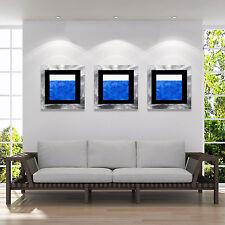 Blue Abstract Metal Wall Art Accent - Santorini Modern by Jon Allen+Kelsey Cohen
