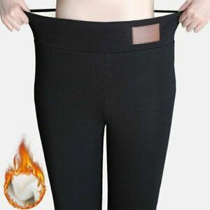 Large Size 6XL Winter Tight Warm Thick Cashmere Pant High Waist Pants Warm Pants