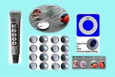 50 Self Cover Button Earring Kit 12mm Cabochon Bezel & Button Drop Earrings 25pr