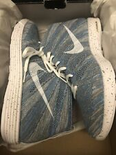 NIKE LUNAR FLYKNIT CHUKKA HTM SNOW PACK BLUE GLOW DS SIZE 12 2012