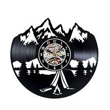Climbing New Black Vinyl Wall Record Clock Party Art Decoration Camping Handmade