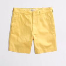 J. Crew SHORTS 34 Mens YELLOW Flat FRONT Gramercy COTTON 90454 Size SZ Short MAN
