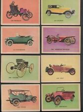 LOT OF (8) OAK MANUFACTURING COMPANY VENDING AUTOMOBILE CARD LOT EX-MT OR BETTER