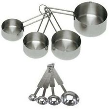 8 Pieces Stainless Steel Measuring Cups Spoon Set Kitchen Baking Cooking Tools