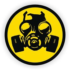 Biohazard Gas Mask Gaming PC Sticker | Laptop Notebook Desktop Computer Decal