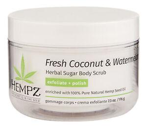 Hempz Fresh Coconut & Watermelon Sugar Body Scrub 7.3 oz. Body Exfoliator