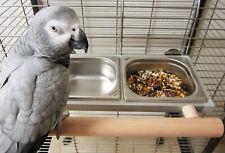 Papageien, Vögel,Futternapf, Futterbar, Futterschale, Edelstahl,Voliere,ZINKFREI