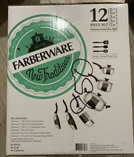 NEW FARBERWARE stainless steel 12 piece cookware set