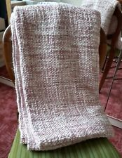 Blush pink chunky knit throw, Dunelm