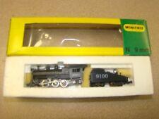 MINITRIX STEAM LOCOMOTIVE & TENDER AT & SF.9100  N SCALE TRAIN  #2916