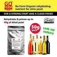 Go-Ferm 100% Organic Wine Yeast Nutrient, 50 GRAM PACK for up to 40g of yeast