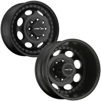 "Set of 6-19.5"" Inch Vision 181Z Hauler Dually 8x6.5"" Matte Black Wheels Rims"