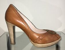 FABI Pumps High Heels Schuhe Elegant Plateau Cognac Gr. 37,5