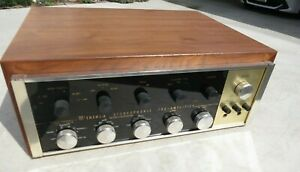 MCINTOSH C20 TUBE STEREO PREAMP WORKING XLNT ALL ORIGINAL w/ Cabinet