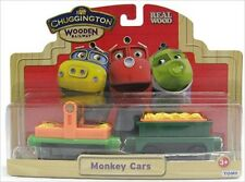 Chuggington Wooden Railway MONKEY CARS Train Cargo Cars 2 Pack 56025 - NIP