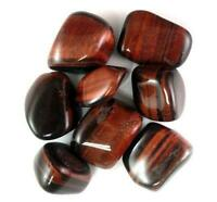 1LB Red Tigers Eye Tumbled Gemstones Wholesale Bulk TRTIR016/7L