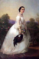 """perfect 24x36oil painting handpainted on canvas""""Portrait of Jenny Lind  """"N11140"""