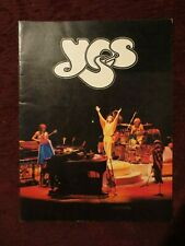YES Vintage 1979 Tour Book Classic Rock!!