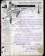 """LIMOGES (87) CONSTRUCTION CERAMIQUE / FOURS à FAIENCE """"Jean-Baptiste CADET"""" 1910"""