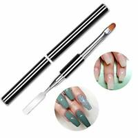 PolyGel Nail Brush Pen Dual-ended Slice Shape Tool LED UV Poly Gel Manicure Set