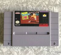 SNES David Crane's Amazing Tennis Super Nintendo Cartridge Cleaned & TESTED