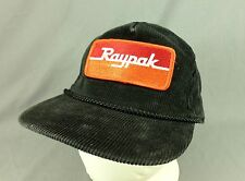 Raypak Swimming Pool Heaters Corduroy Hat Cap Trucker Snapback Rope Black