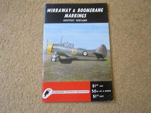 Kookabura. (Commonwealth) Wirraway & Boomerang Markings WW2 Australia GOOD