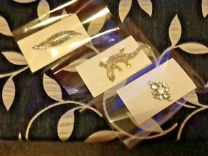 Brooches X 3 all perfect not wanted selling for local charities