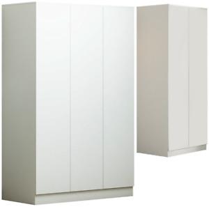 2 & 3 Door Matte White Modern Soft Close Wardrobe - Bedroom Furniture
