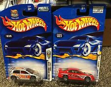 Hot Wheels 2001 First Editions #15 Honda Civic Si Red & 2003 Silver lot of 2