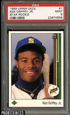 1989 Upper Deck #1 Ken Griffey Jr. Seattle Mariners RC Rookie HOF PSA 9 MINT