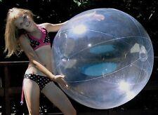 "48"" CRYSTAL CLEAR Inflatable Beach Ball - Glossy Vinyl Balloon Bubble"