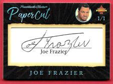 2020 Joe Frazier President's Choice Solitaire 1/1 Auto PaperCut - Smokin Joe