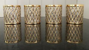 "IMPERIAL GLASS SEKAI ICHI Gold 3.5"" TUMBLERS MCM Bareware (4)"