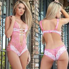 Lingerie Sleepwear Lace Women Teddy G-string Dress-Underwear Babydoll Nightwear