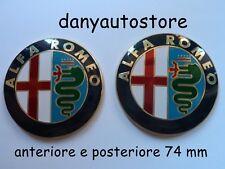 2 Stemma LOGO ALFA ROMEO  GIULIETTA 147 159 156 164 Fregio Anteriore Posteriore